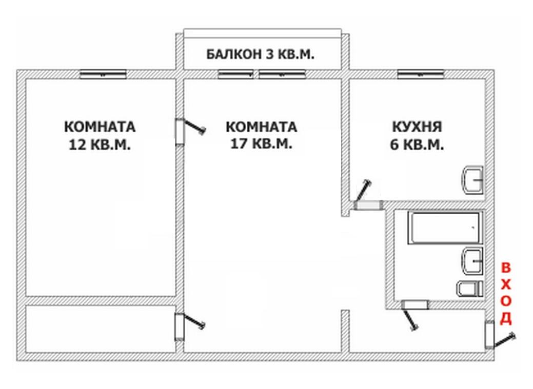 2 комнатная квартира дизайн и интерьер хрущевка