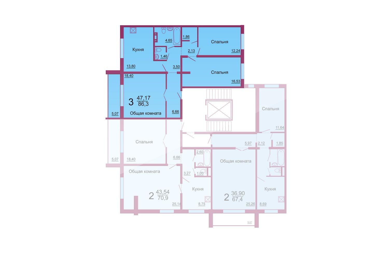 Схемы квартир улучшенной планировки